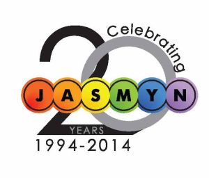JASMYN 20th Square Logo