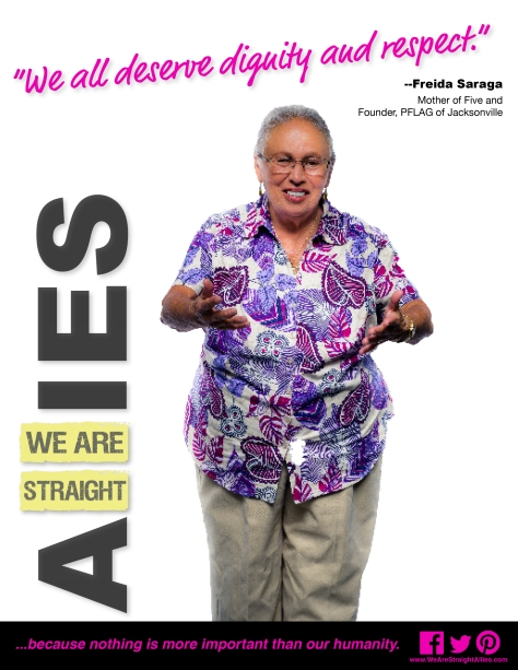 Frieda Saraga, Founder - PFLAG of Jacksonville
