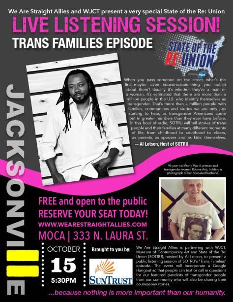 SoTRU T-Families Event Flyer