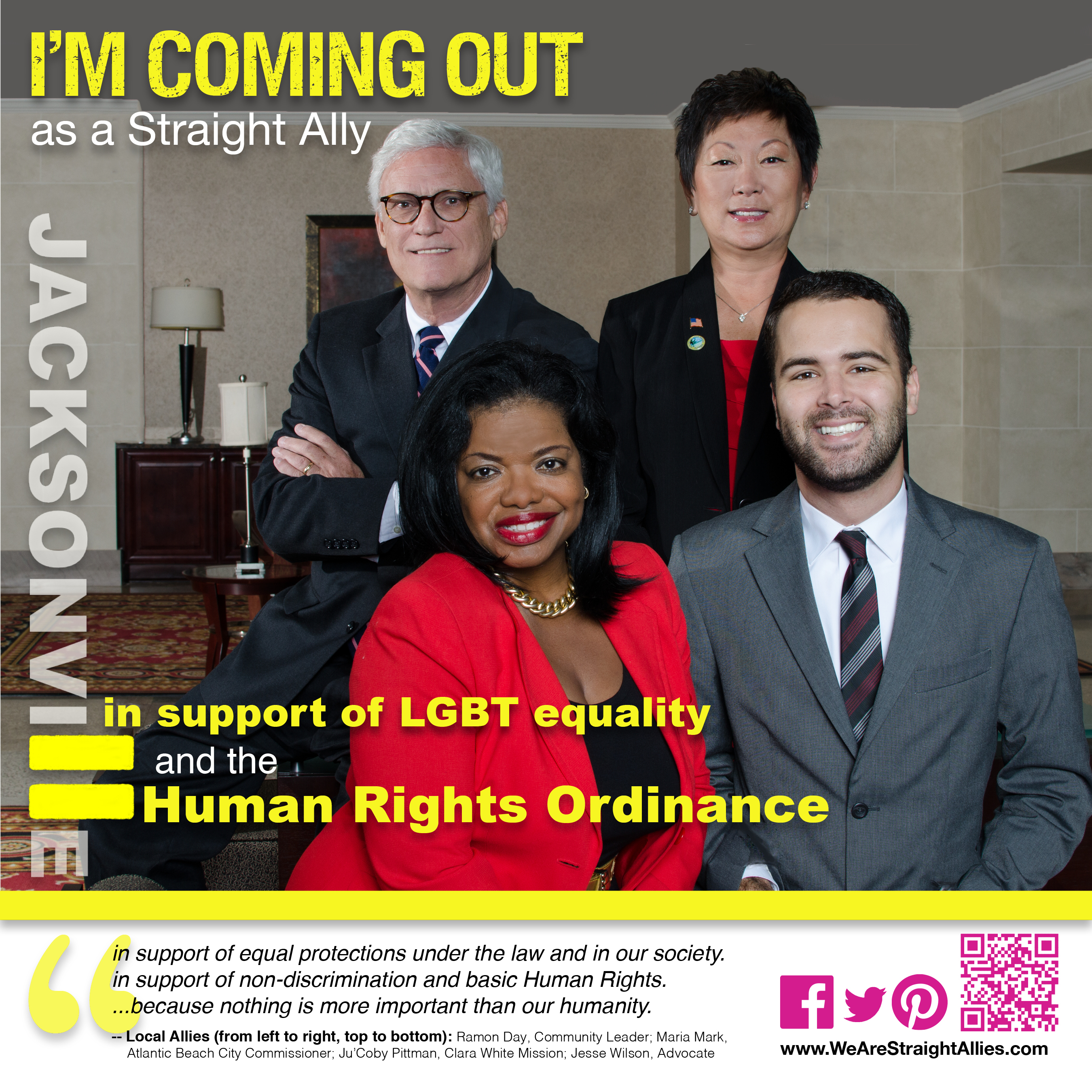 jacksonville community advocates we are straight allies