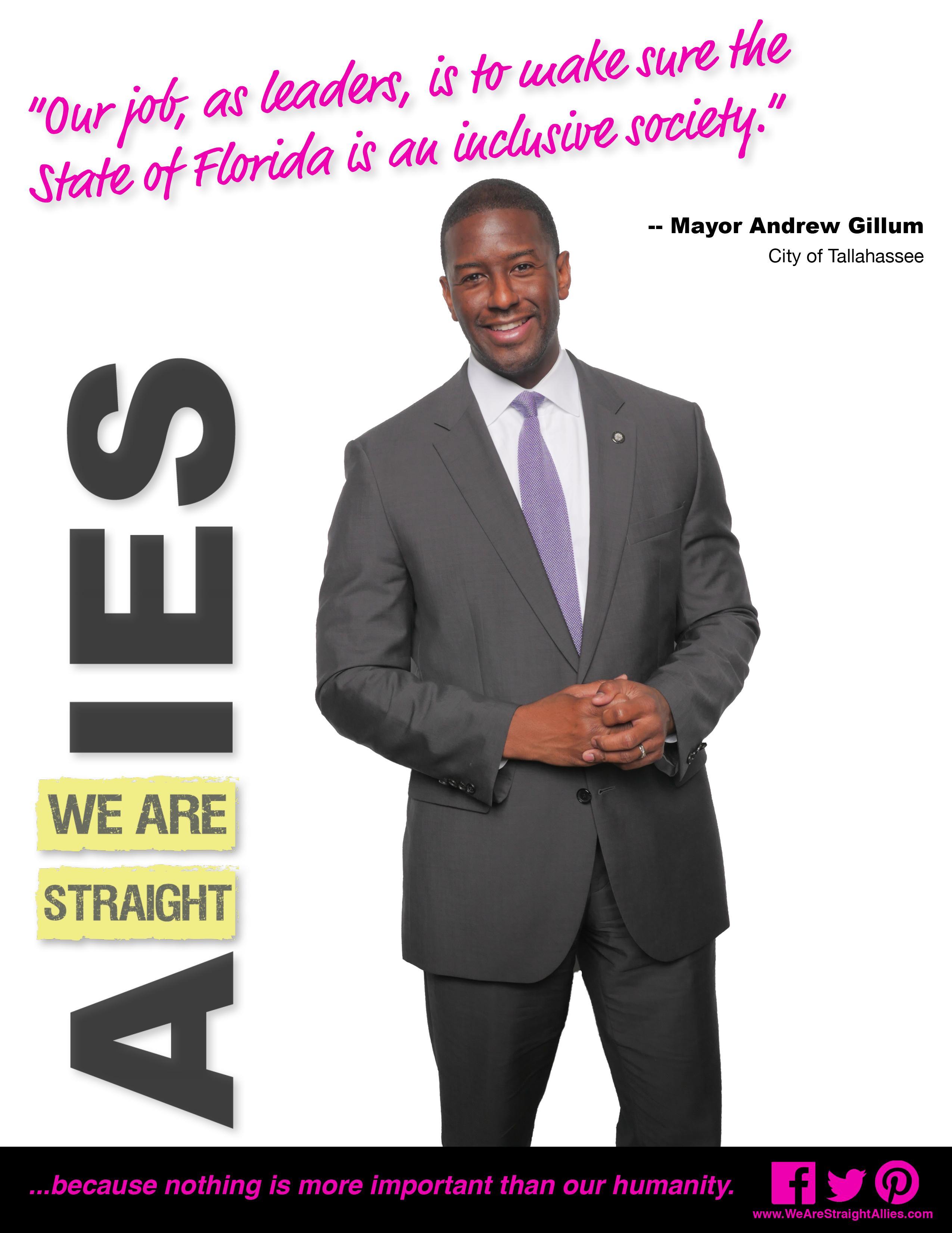 we are straight allies we are straight allies coming out in or gillum fp